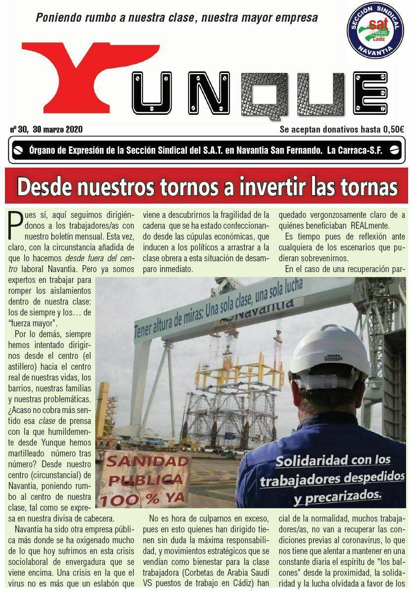 Revista Yunque Nº 30. Marzo 2020